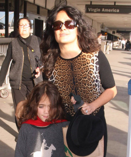 Salma Hayek and her daughter, Valentina, arrived in LA.