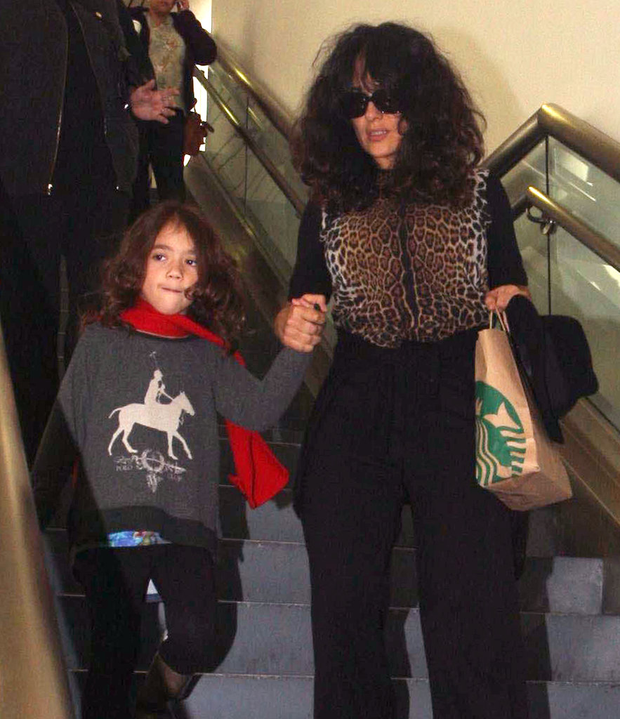 Salma Hayek and Valentina arrived at LAX.