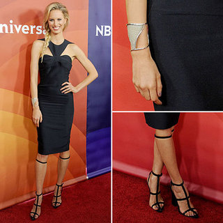 Karolina Kurkova Wearing Cutout Dress | Jan. 8, 2013
