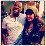 90210 star Tristan Wilds posed with one of the show's wardrobe ladies.  Source: Instagram user tristanwilds