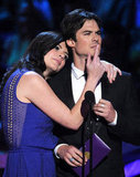 Casey Wilson and Ian Somerhalder