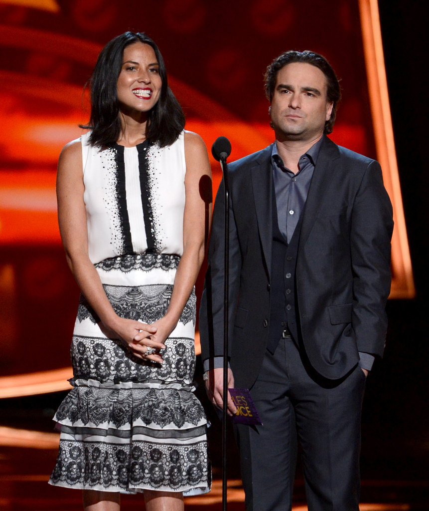 Olivia Munn and Johnny Galecki