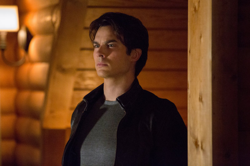 Damon takes a moment to smolder.