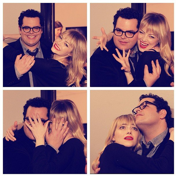 How fun are these photo booth pictures of Emma Stone and 1600 Penn star Josh Gad behind the scenes at The Tonight Show With Jay Leno?  Source: Instagram user tonightshow