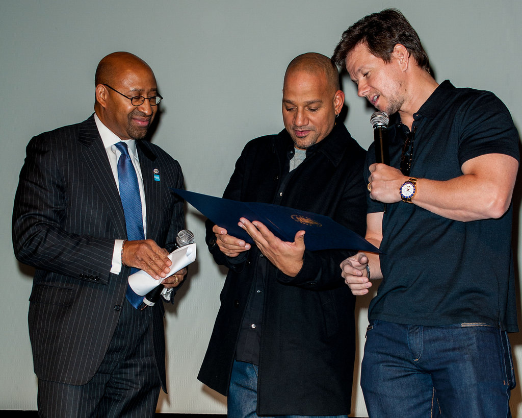 Mark Wahlberg premiered his Broken City in Philadelphia with the help of Michael Nutter and director Allen Hughes.