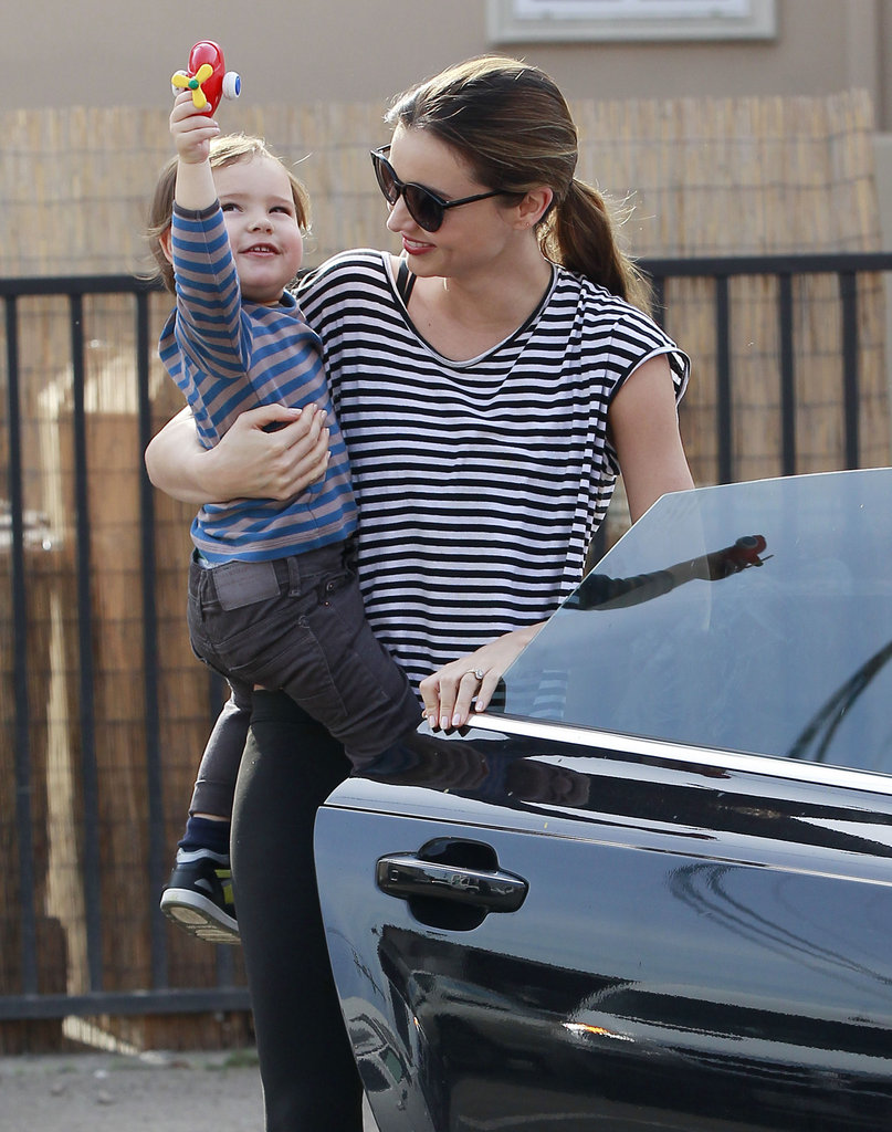 Miranda Kerr and Smiley Flynn Make a Matching Gym Trip