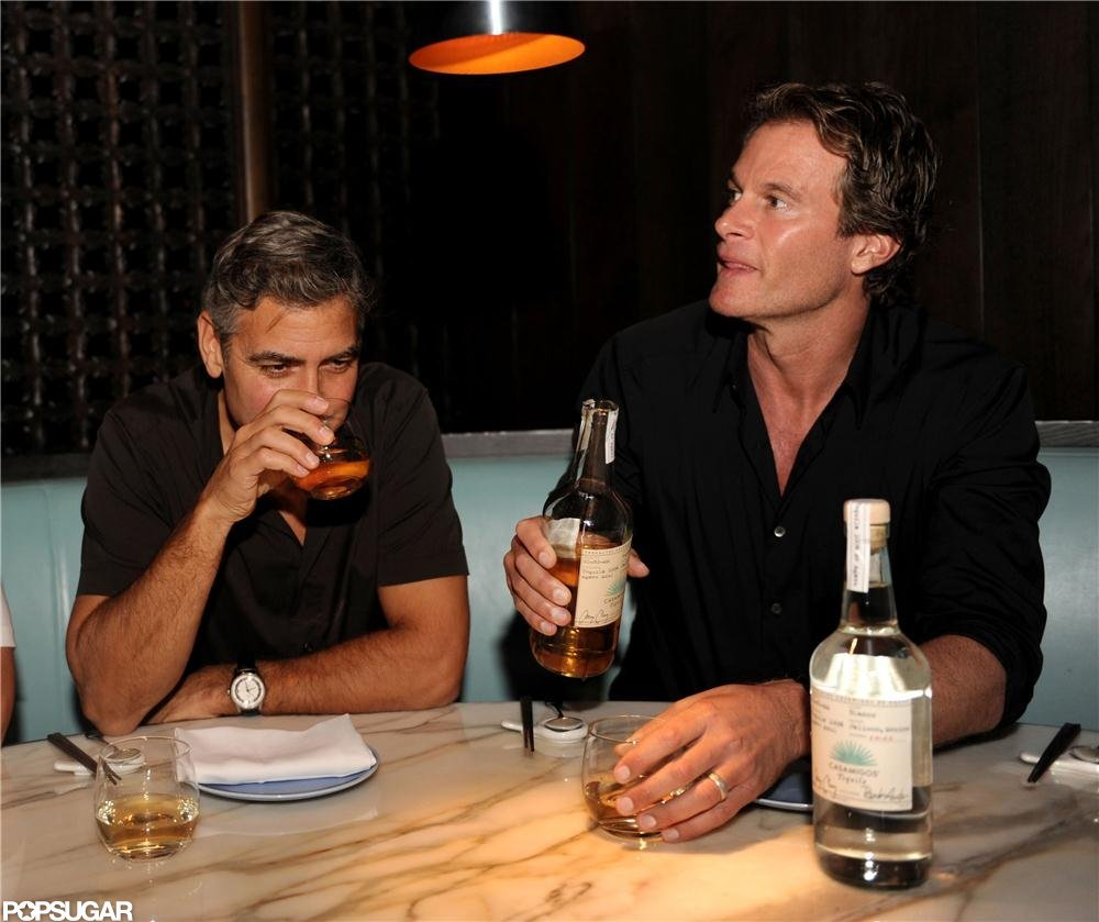 George Clooney and business partner Rande Gerber drank their new tequila.