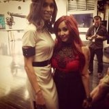 Giuliana Rancic smiled next to Snooki. Source: Twitter user snooki