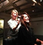 Julianne Hough gave her hairstylist a trim. Source: Twitter user chordover
