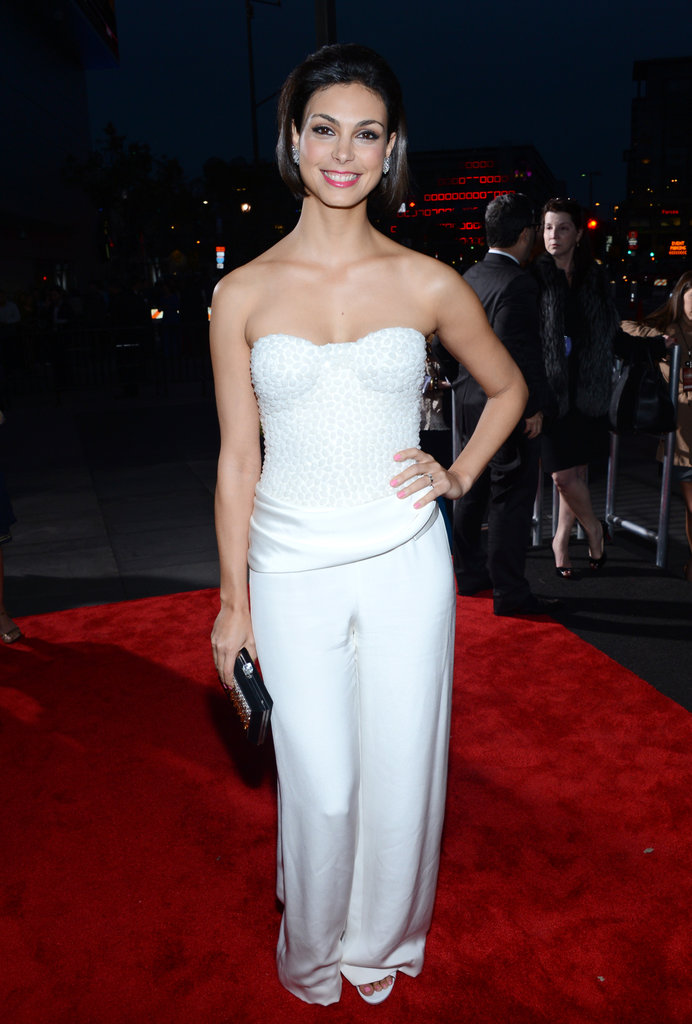 Homeland's Morena Baccarin Goes Glam in a White Pantsuit