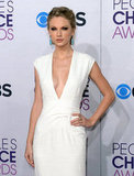 Taylor Swift rocked a white Ralph Lauren number.