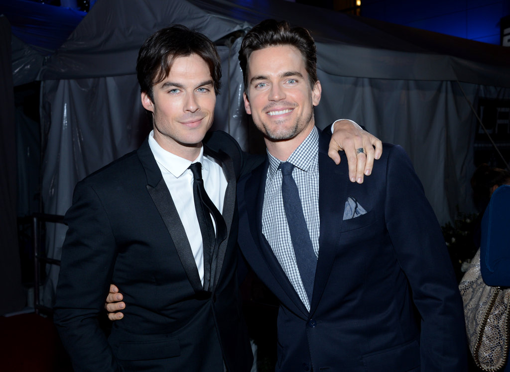 Ian Somerhalder and Matt Bomer smiled together at the People's Choice Awards.