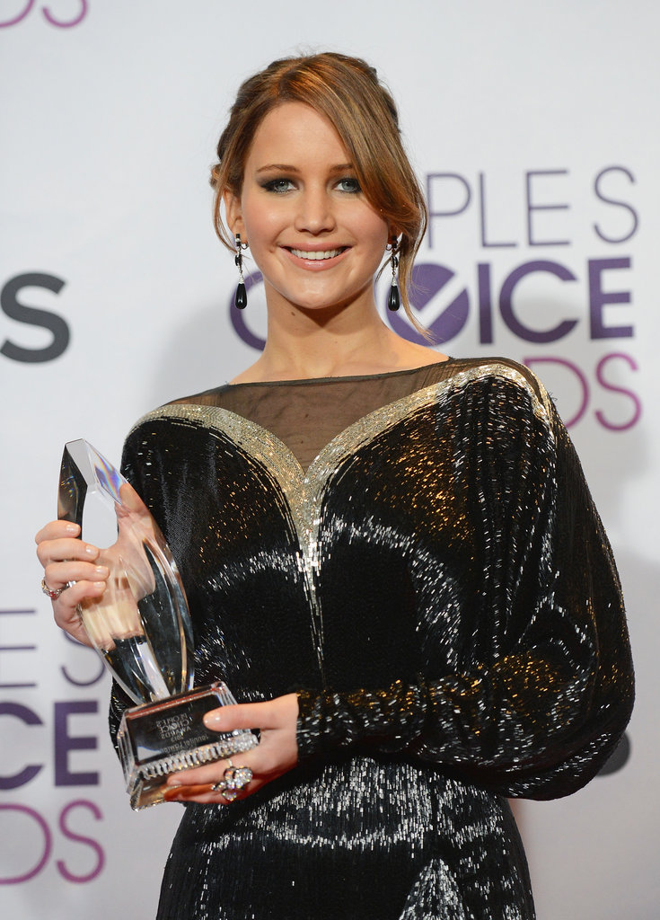 Jennifer Lawrence posed with her People's Choice Award.