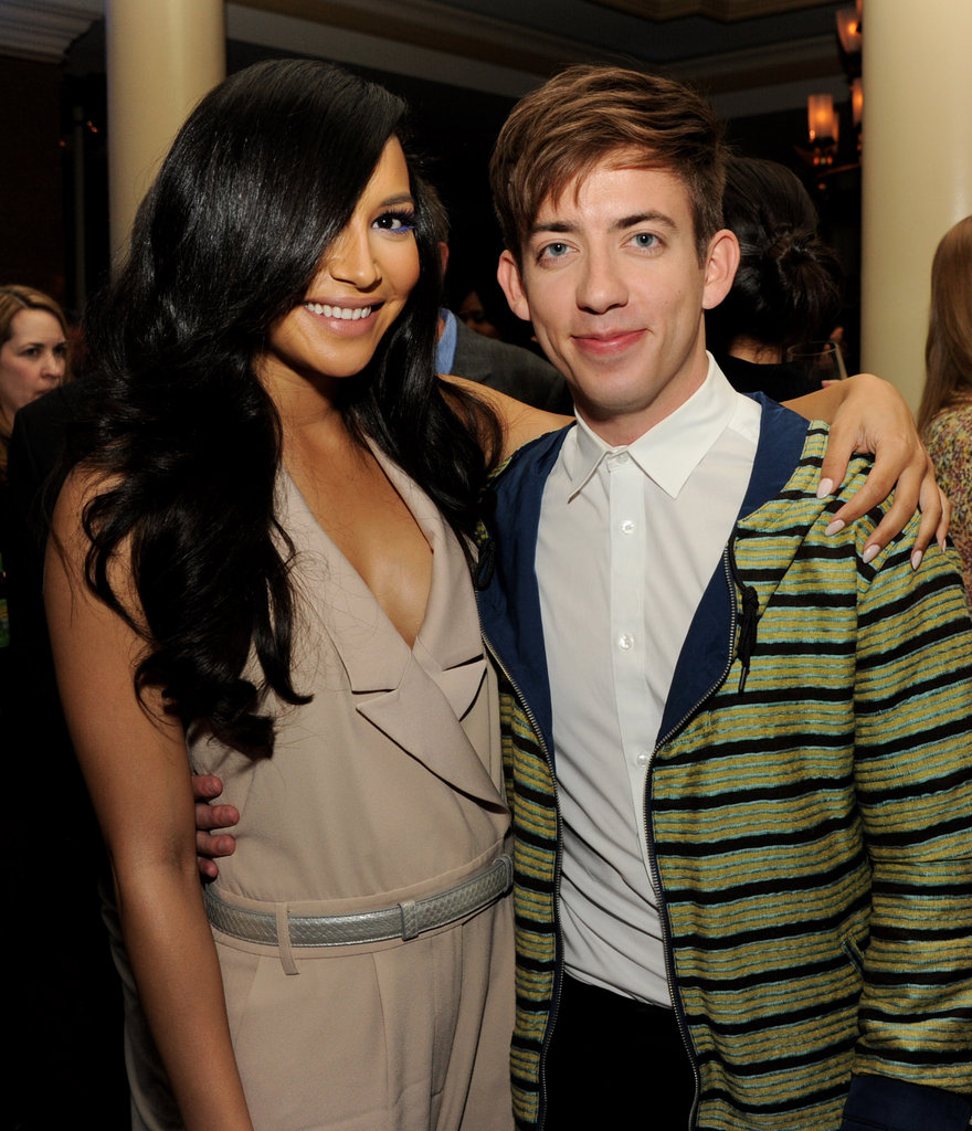 Naya Rivera and Kevin McHale posed together.