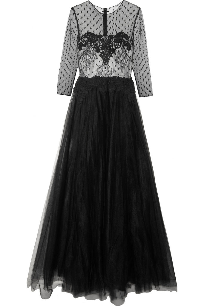 Polka dots gone formal — this Notte by Marchesa Lace and Tulle Gown ($895) is an unexpected look for a black-tie event.