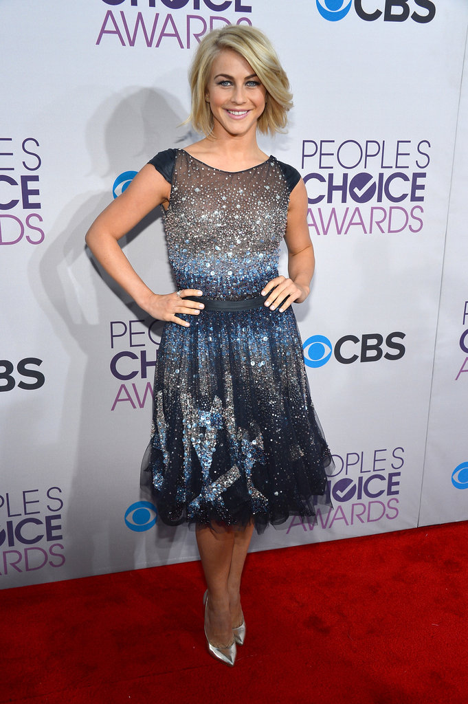 Julianne Hough embraced the silhouette with her glittering Tony Ward haute couture dress.