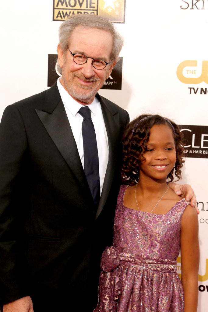 Steven Spielberg and Quvenzhané Wallis