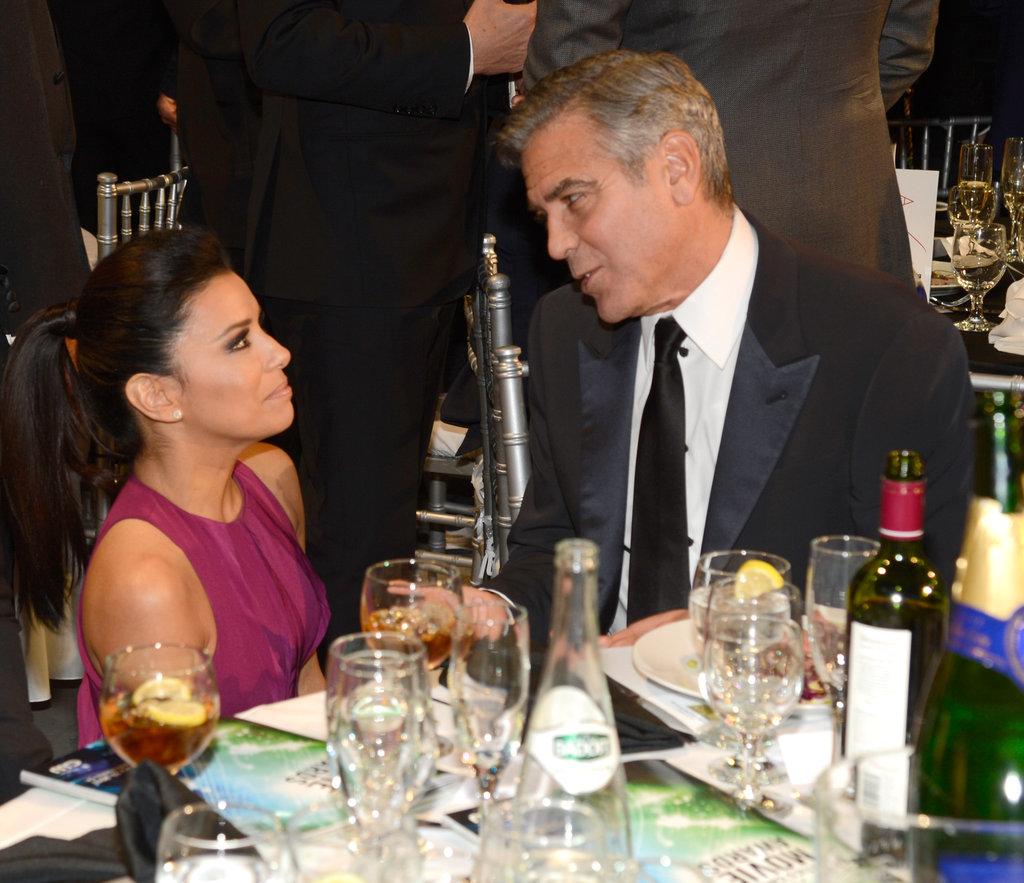 Eva Longoria and George Clooney