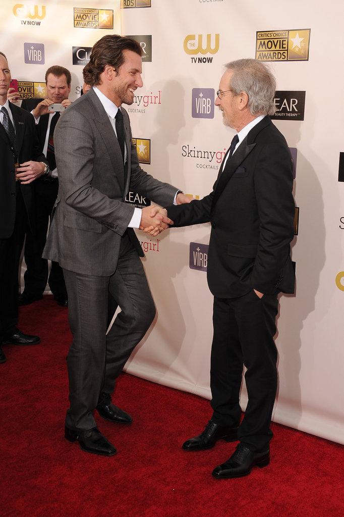 Bradley Cooper and Steven Spielberg
