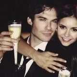 Ian Somerhalder helped Vampire Diaries costar and girlfriend Nina Dobrev celebrate at her 24th birthday party.  Source: Instagram user ayesomerhalder