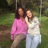 Oprah posted this picture of her hanging out on Drew Barrymore's swing. Turns out, they live less than two miles from each other.  Source: Instagram user oprah