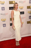 Emily Blunt stepped out in a white Miu Miu gown.