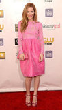 Leslie Mann wore pink to the Critics' Choice Awards.