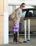 Amy Adams and Aviana left a ballet class.