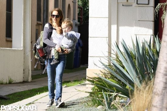 Natalie Portman and Aleph ran some errands in LA.
