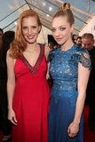 Jessica Chastain and Amanda Seyfried linked up on the red carpet.