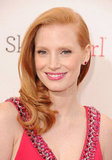 Jessica Chastain looked pretty in red at the Critics' Choice Awards.