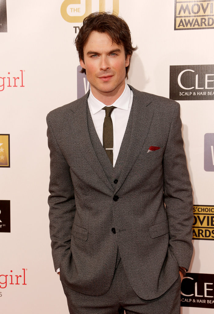 Ian Somerhalder looked dapper in a suit on the red carpet.
