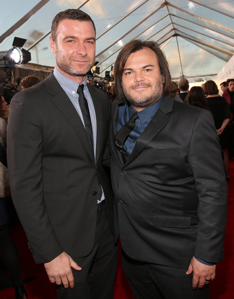 Liev Schreiber and Jack Black hit the red carpet together.