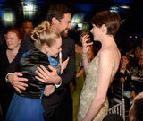 Amanda Seyfried, Hugh Jackman and Anne Hathaway got silly during the Critics' Choice Awards.