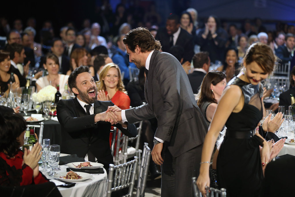 Bradley Cooper congratulated Ben Affleck on his best director win during the show.