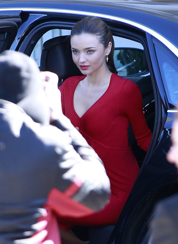 Miranda Kerr posed for a photo shoot.