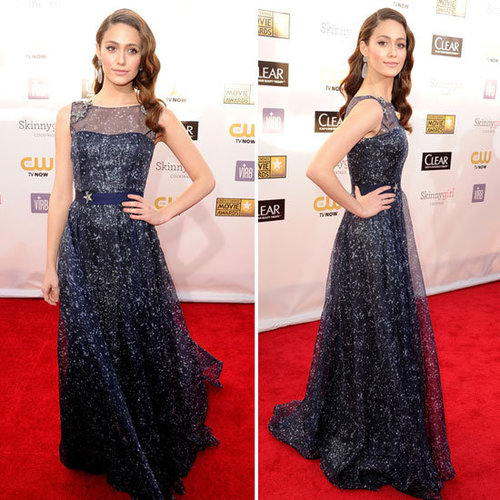 Emmy Rossum in Carolina Herrera 2013 Critics' Choice Awards
