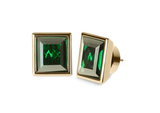 Michael Kors's emerald square stud earrings ($65) are small enough for work, yet still emote high impact.