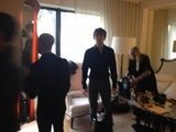 The Wanted shared a snap of their getting-ready process ahead of the red carpet. Source: Twitter user thewantedmusic