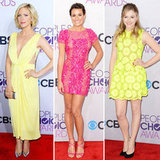 The red carpet was a veritable rainbow at the People's Choice Awards.