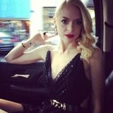 Jaime King upped the glamour in gorgeous Jason Wu. Source: Instagram user jasonwustudio