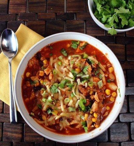 Chicken Corn Chili - 210 calories per bowl!