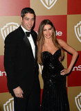 Sofia Vergara and Nick Loeb posed for pictures.