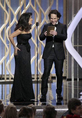Paul Rudd and Salma Hayek presented together at the Golden Globes.