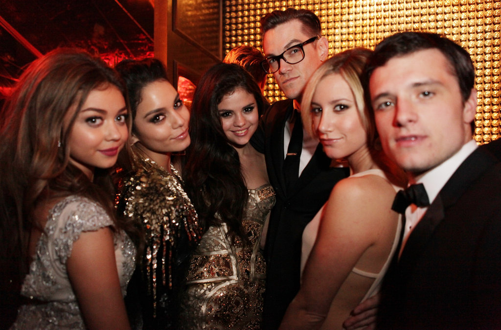 Selena Gomez, Vanessa Hudgens, Sarah Hyland, Ashley Tisdale, and Josh Hutcherson met up at the Harvey Weinstein afterparty Sunday night.