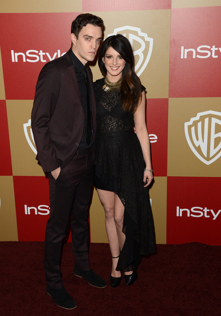 Shenae Grimes and Josh Beech posed for a picture.