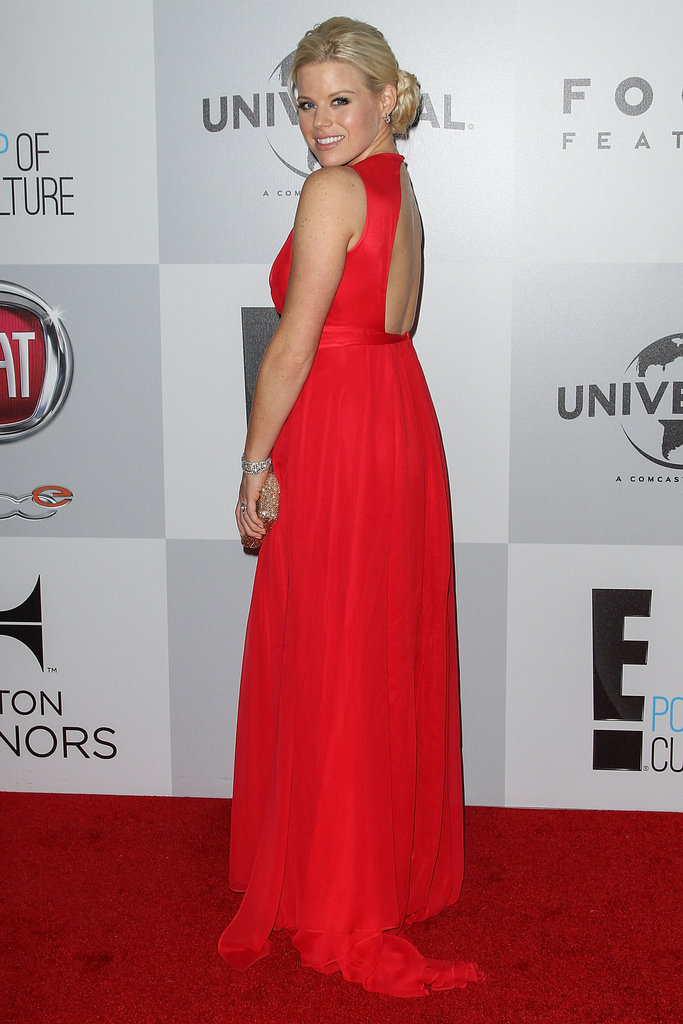 Megan Hilty donned a red gown.