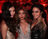 Gorgeous trio Selena Gomez, Sarah Hyland, and Vanessa Hudgens glowed at the Weinstein party.