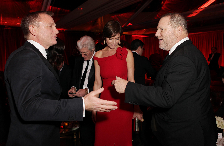 Host Harvey Weinstein greeted Mr. Bond himse