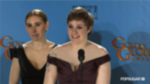 Video: Lena Dunham Responds to Girls' Haters Backstage at Golden Globes